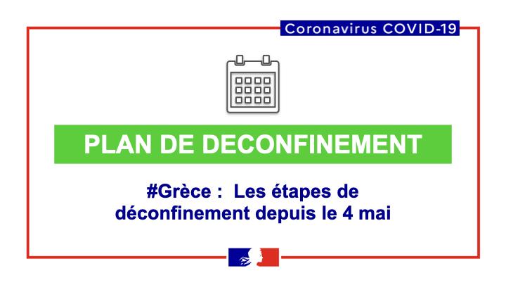 Covid 19 Covid 19 Les Etapes Du Deconfinement En Grece Du 4 Ambassade De France En Grece Presbeia Ths Gallias Sthn Ellada
